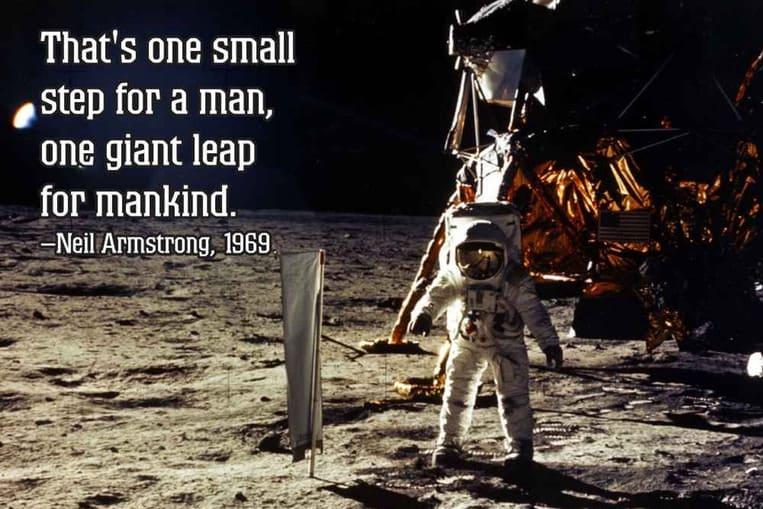 Neil Armstrong a déclaré que sa célèbre citation avait été mal citée
