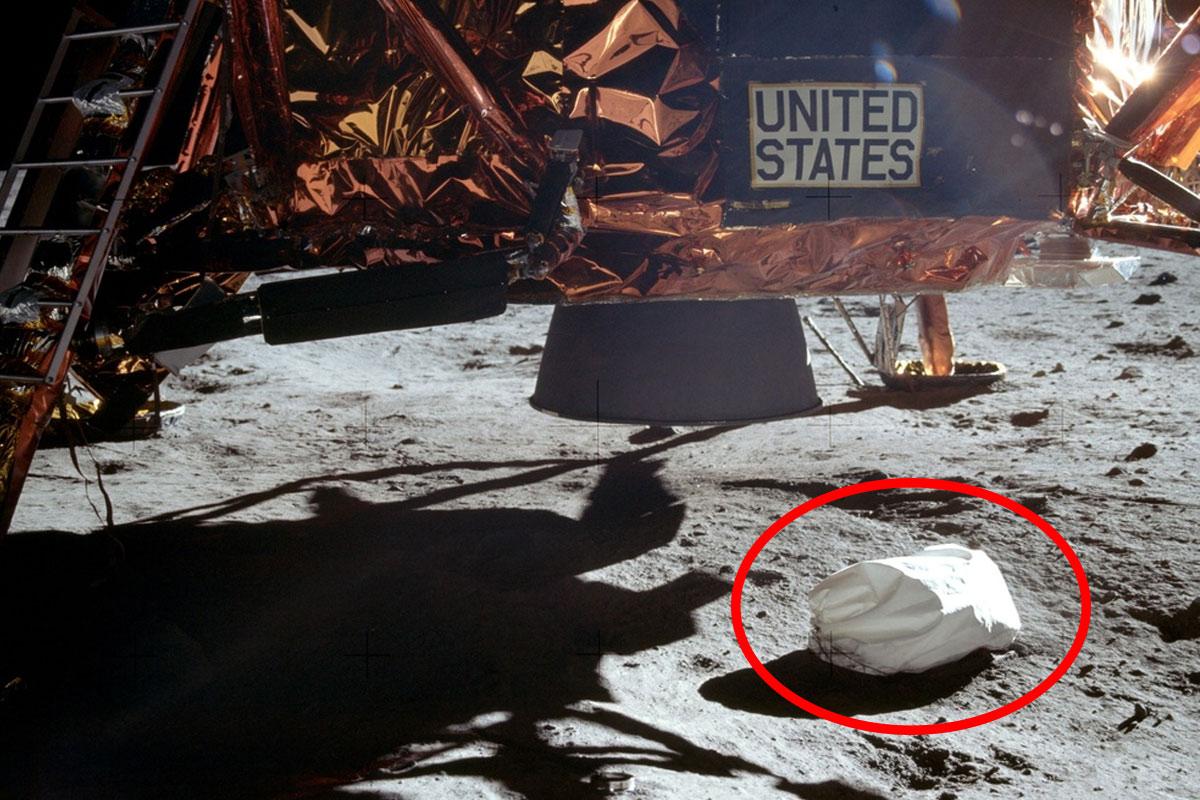 Neil Armstrong a jeté des ordures sur la lune