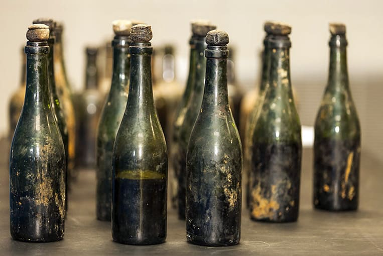 Champagne naufragé