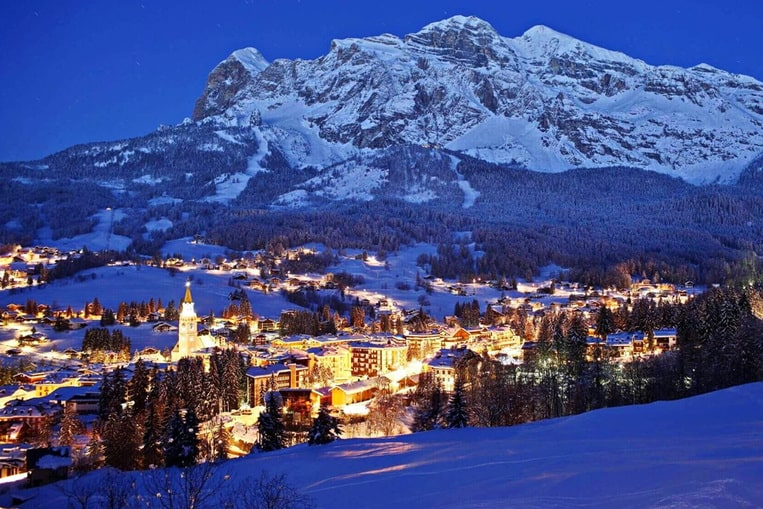 Station de ski de Cortina d'Ampezzo, Italie