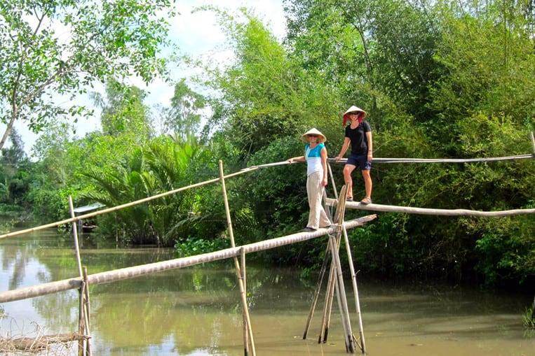 Les ponts de singe du delta du Mékong, au Vietnam