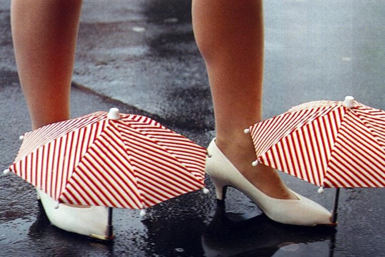 Les mini-parapluies pour chaussures
