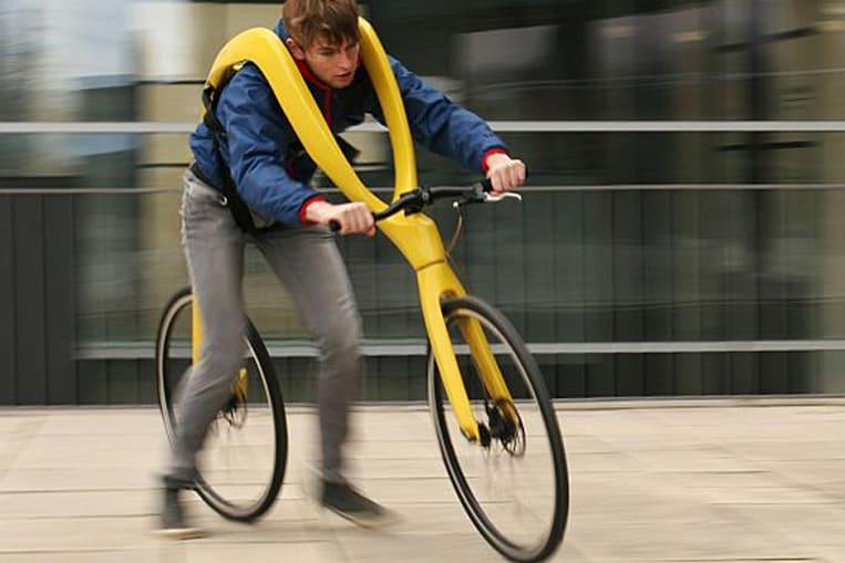 Le vélo sans pédales ni selle