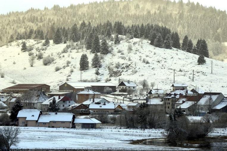 Le village de Mouthe, considéré comme le village le plus froid de France